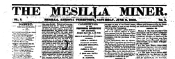 Mesilla Miner newspaper archives