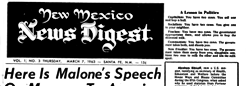 New Mexico News Digest newspaper archives