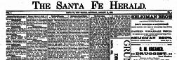 Santa Fe Herald newspaper archives
