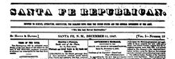 Santa Fe Republican newspaper archives