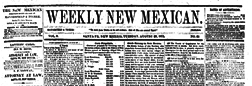 Santa Fe Weekly New Mexican newspaper archives