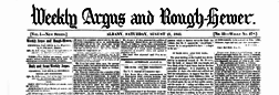 Albany Weekly Argus And Rough Hewer newspaper archives