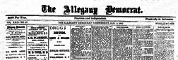 Allegany Democrat newspaper archives