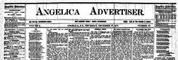 Angelica Advertiser newspaper archives