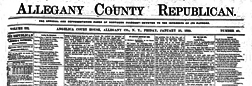 Angelica Allegany Republican newspaper archives