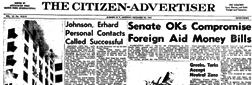 Auburn Citizen Advertiser newspaper archives