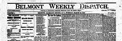Belmont Weekly Dispatch newspaper archives