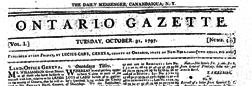 Ontario Gazette newspaper archives