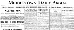 Middletown Daily Argus newspaper archives
