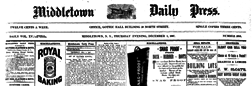Middletown Daily Press newspaper archives