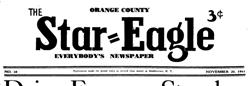 Middletown Orange County Star Eagle newspaper archives