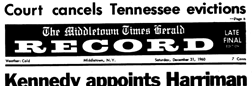 Middletown Times Herald Record newspaper archives