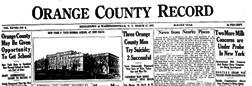 Orange County Record newspaper archives