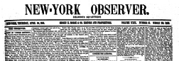 New York Observer newspaper archives