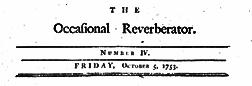 New York Occasional Reverberator newspaper archives