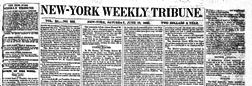 New York Weekly Tribune newspaper archives