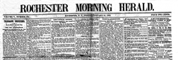 Rochester Morning Herald newspaper archives