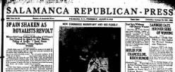 Salamanca Republican Press newspaper archives
