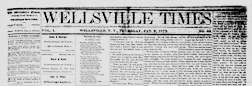 Wellsville Times newspaper archives