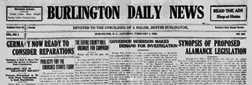 Burlington Daily News newspaper archives