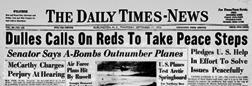 Burlington Times News newspaper archives
