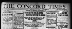 Concord Times newspaper archives