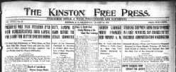 Kinston Free Press newspaper archives