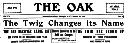 Raleigh Oak newspaper archives