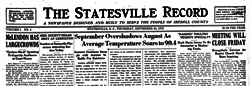 Statesville Record newspaper archives