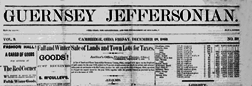 Cambridge Guernsey Jeffersonian newspaper archives