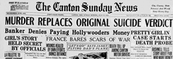 Canton Sunday News newspaper archives
