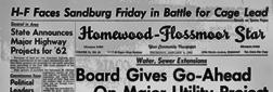 Cleveland Homewood Flossmoor Star newspaper archives