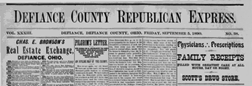 Defiance County Republican And Express newspaper archives