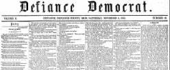 Defiance Democrat newspaper archives