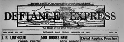 Defiance Express newspaper archives