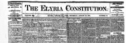 Elyria Constitution newspaper archives