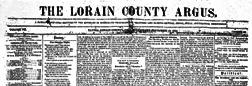 Elyria Lorain County Argus newspaper archives