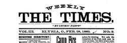 Elyria Weekly Times newspaper archives