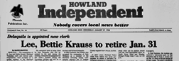 Howland Independent newspaper archives