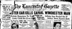 Lancaster Gazette newspaper archives
