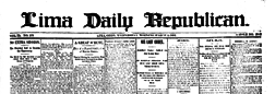 Lima Daily Republican newspaper archives
