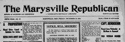 Marysville Republican newspaper archives
