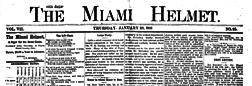 Piqua Miami Helmet newspaper archives