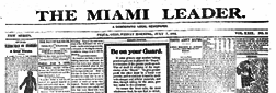 Piqua Miami Leader newspaper archives