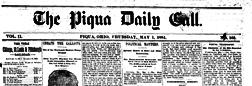 Piqua Morning Call newspaper archives