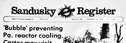 Sandusky Sunday Register newspaper archives