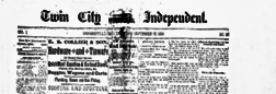 Twin City Independent newspaper archives