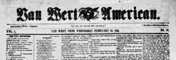 Van Wert American newspaper archives