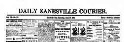 Daily Zanesville Courier newspaper archives