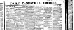 Zanesville Courier newspaper archives